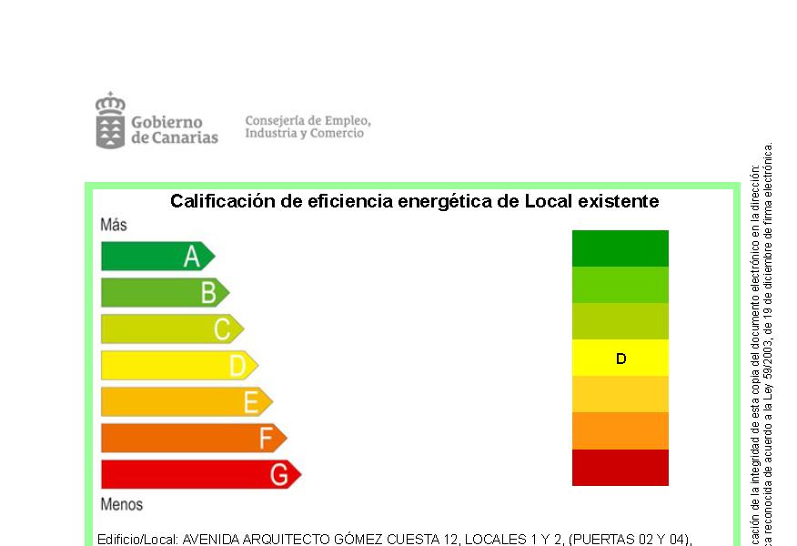 Calificación Energética de Local